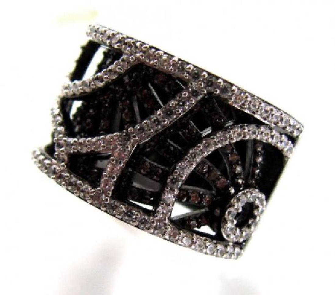 Brown/White Creation Dia Ring 2.75Ct 18k B/g Over - 2
