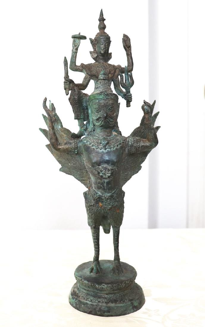 Khmer Angkor,King Vishnu on Garuda Statue 12th Century