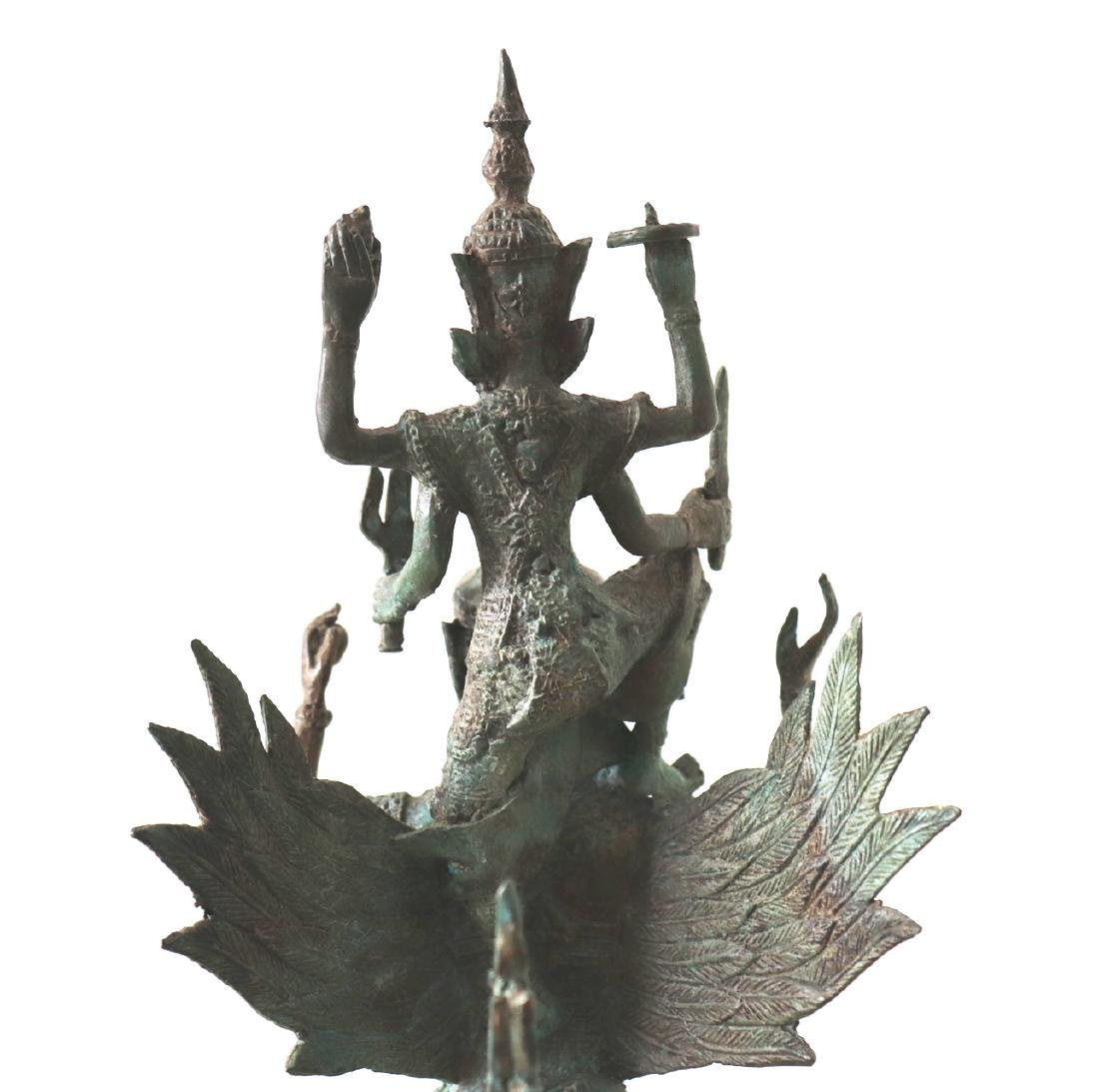 Khmer Angkor,King Vishnu on Garuda Statue 12th Century - 6