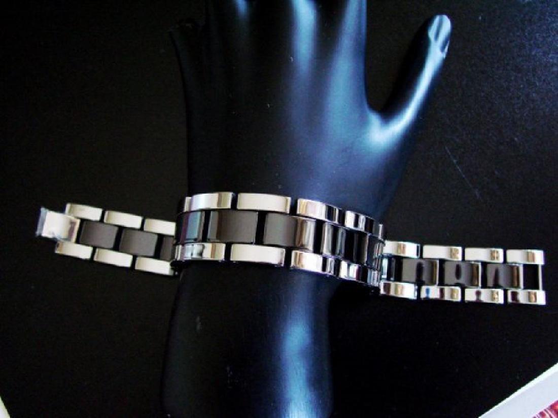 Men Bracelet Tungsten Carbide Bar Link - 2