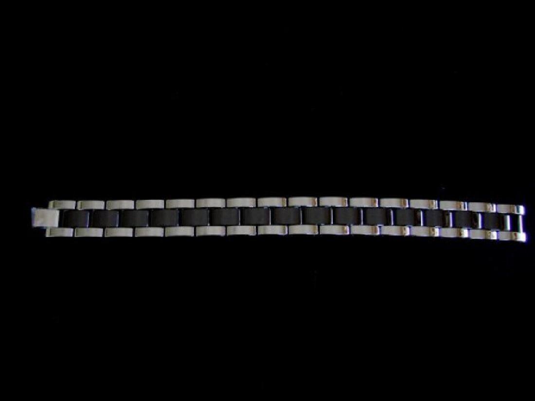 Men Bracelet Tungsten Carbide Bar Link - 3
