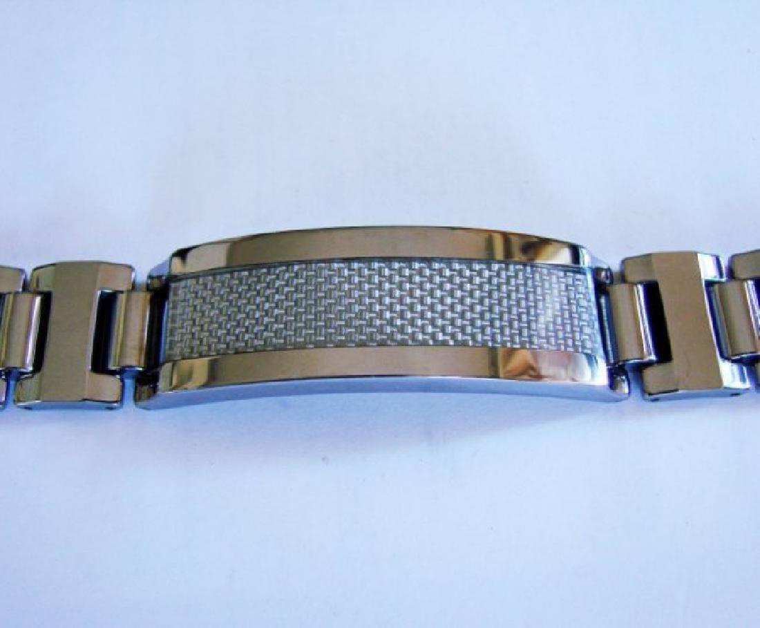 Men ID Bracelet Tungsten Carbide Carbon Fiber - 2