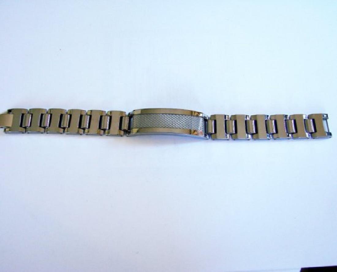 Men ID Bracelet Tungsten Carbide Carbon Fiber - 3