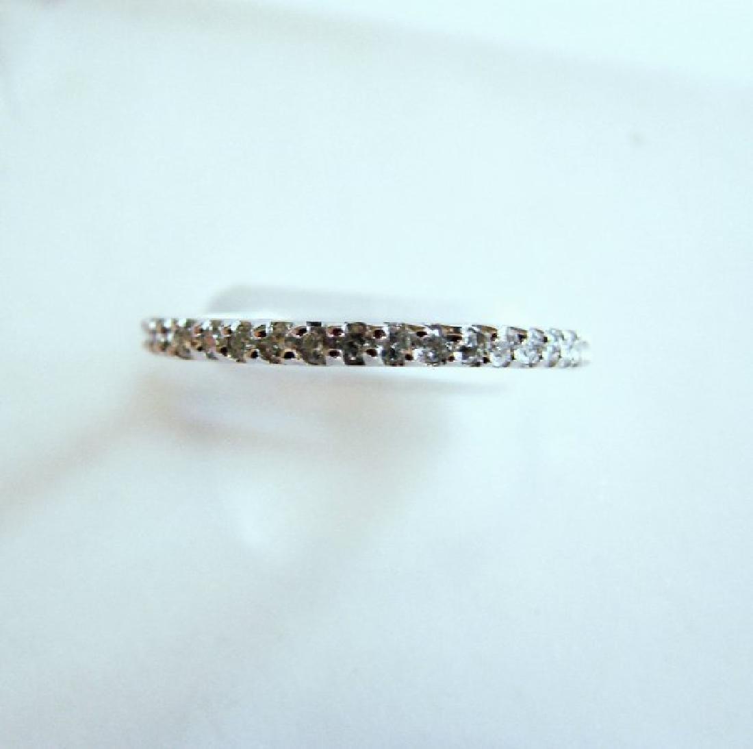 Wedding Ring Diamond .42Ct 14k W/g Size 7