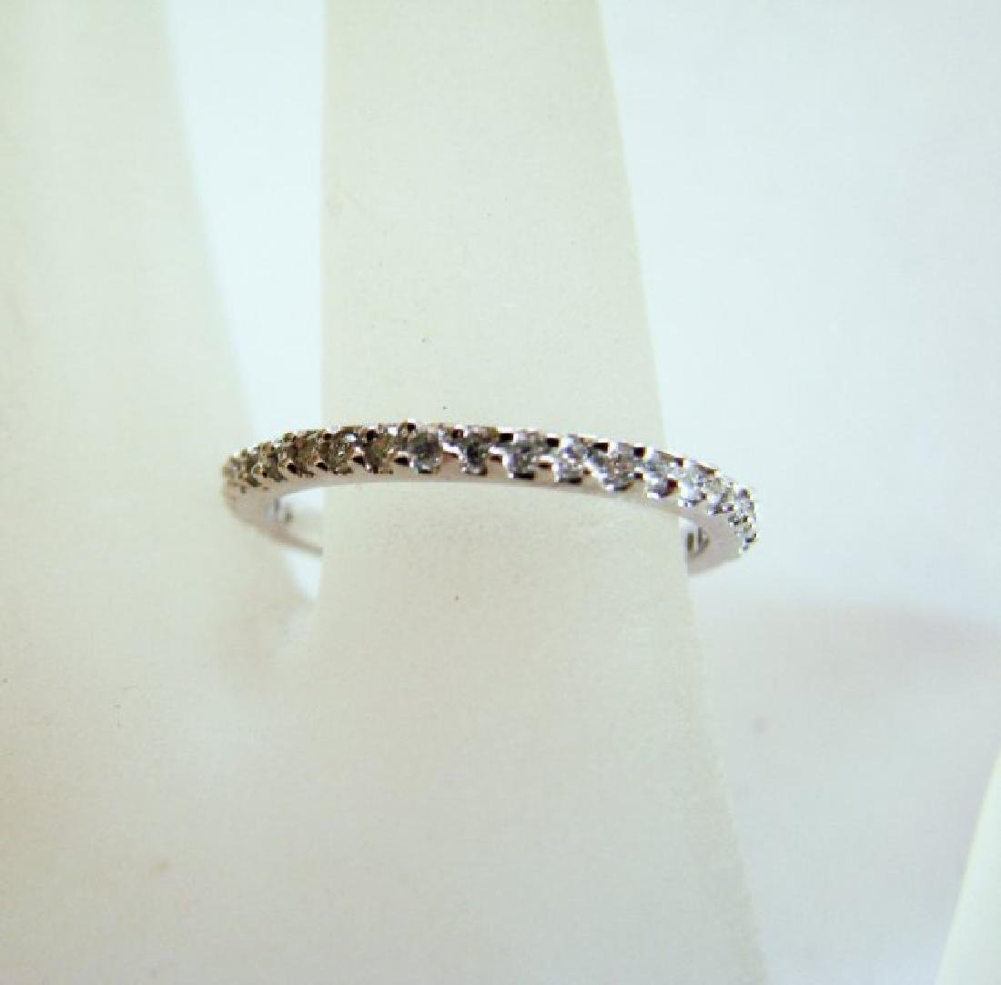 Wedding Ring Diamond .42Ct 14k W/g Size 7 - 2