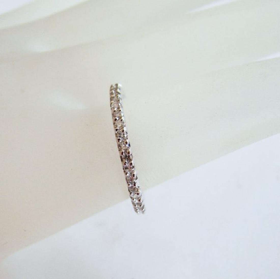 Wedding Ring Diamond .42Ct 14k W/g Size 7 - 3