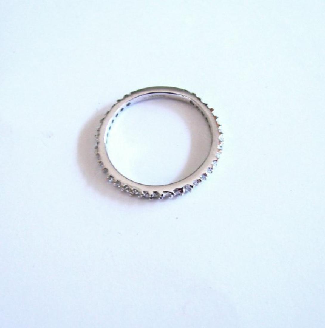Wedding Ring Diamond .42Ct 14k W/g Size 7 - 4