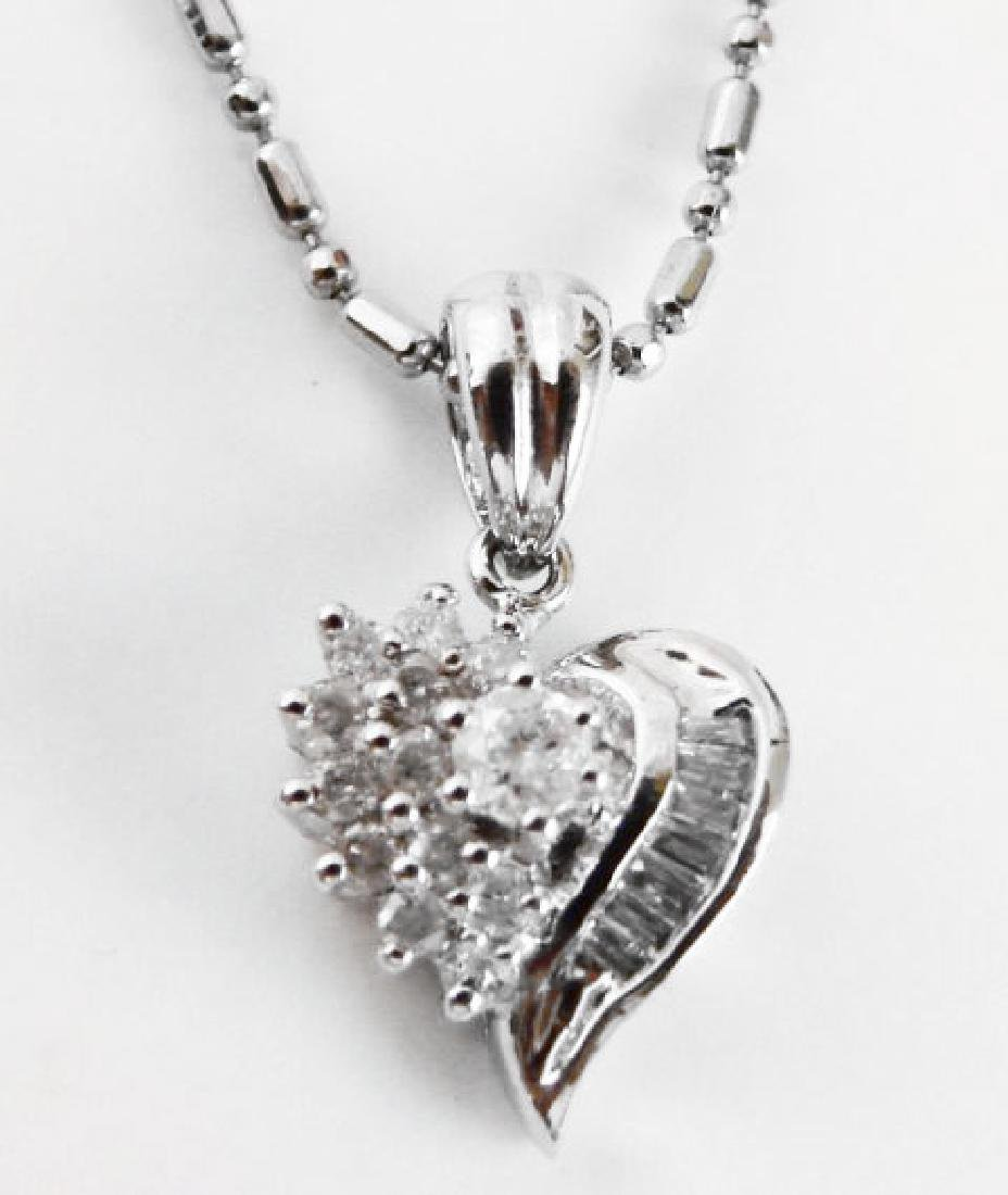 Diamond Heart Pendant: .35 Carat 14k W/g