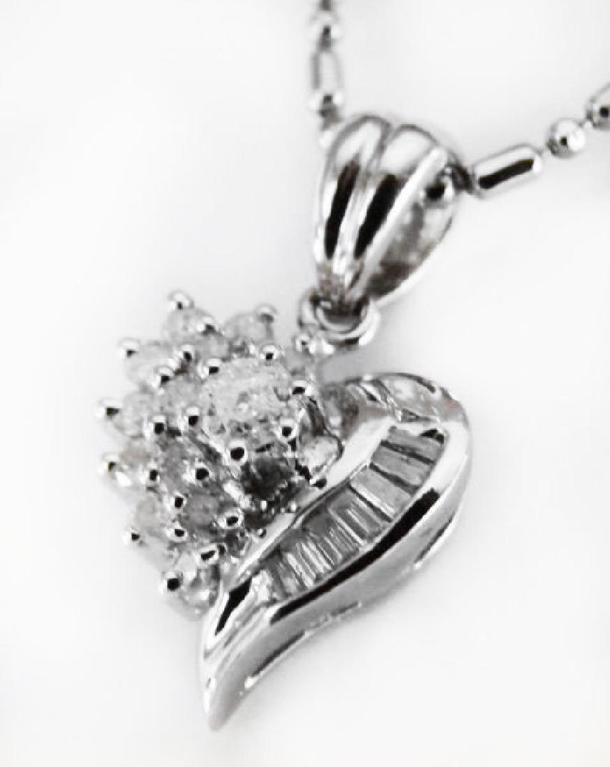 Diamond Heart Pendant: .35 Carat 14k W/g - 2