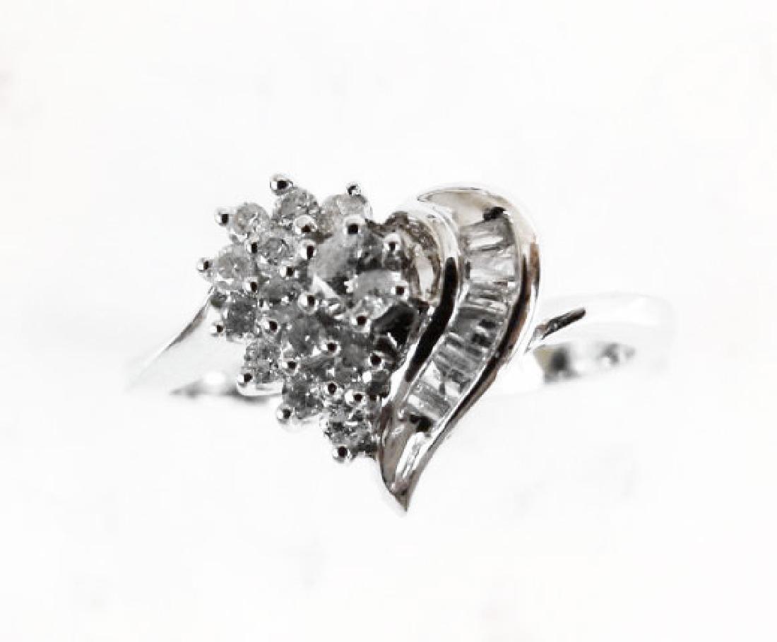 Diamond Heart Ring: .35 Carat 14k W/g