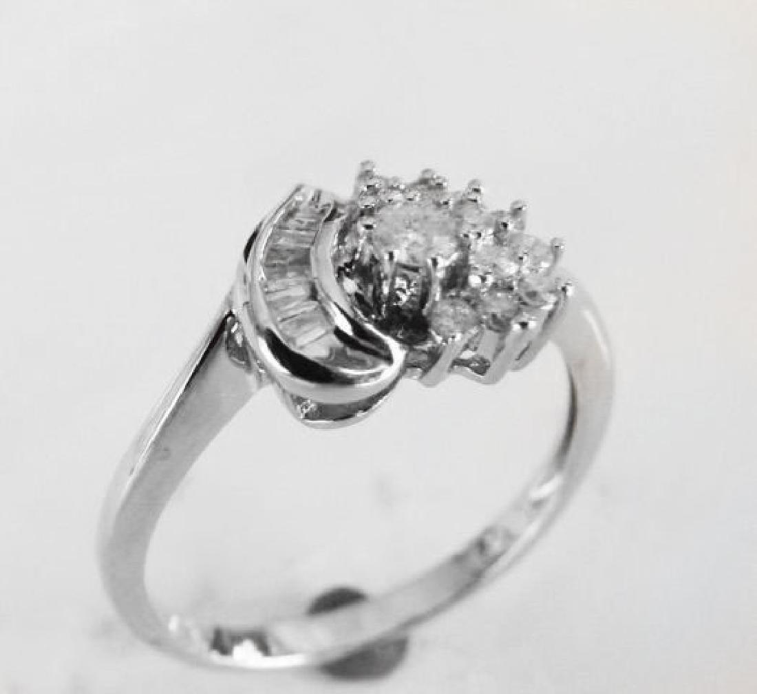 Diamond Heart Ring: .35 Carat 14k W/g - 2