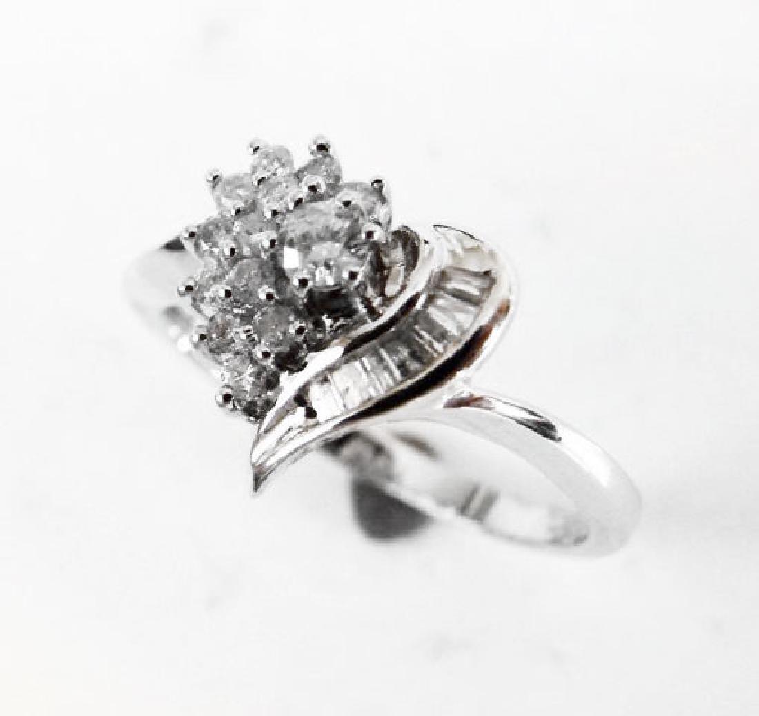 Diamond Heart Ring: .35 Carat 14k W/g - 3