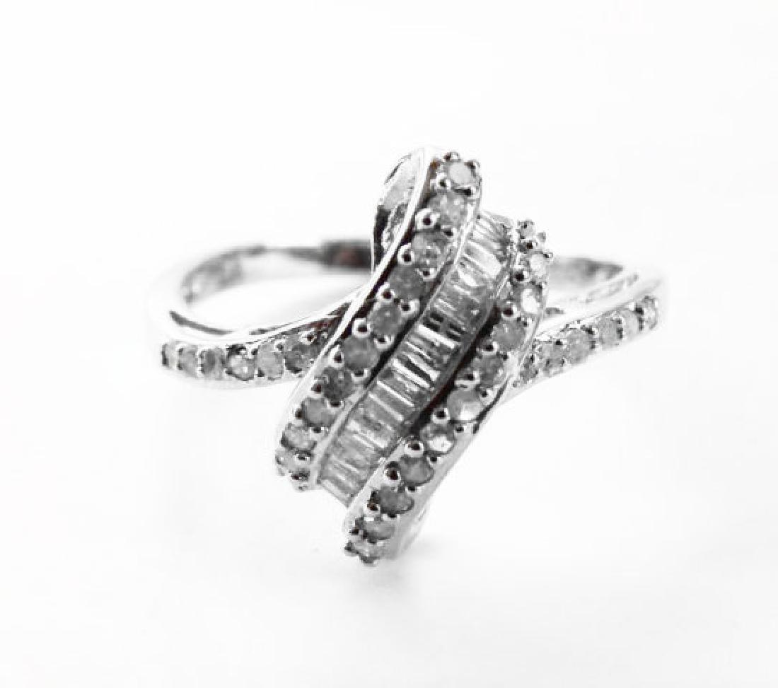 Diamond Unique Ring: .84 Carat 14k W/g