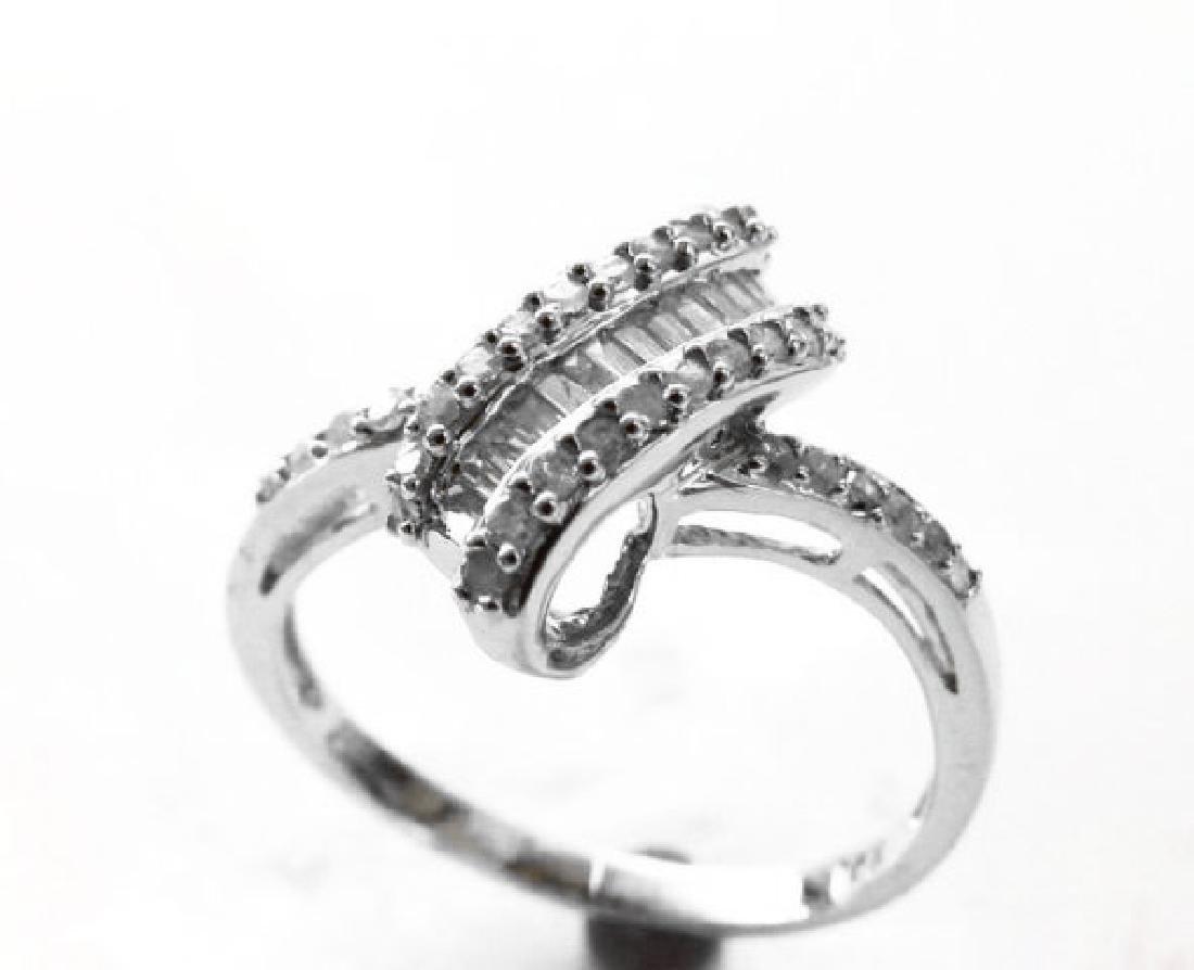 Diamond Unique Ring: .84 Carat 14k W/g - 2