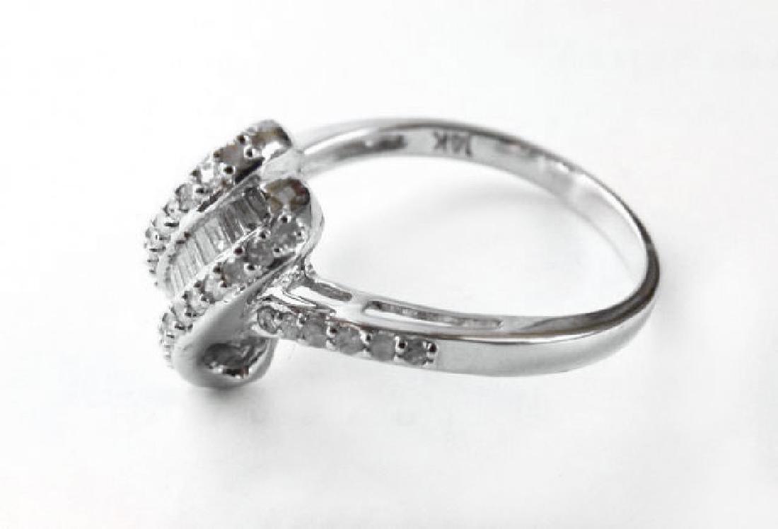 Diamond Unique Ring: .84 Carat 14k W/g - 3