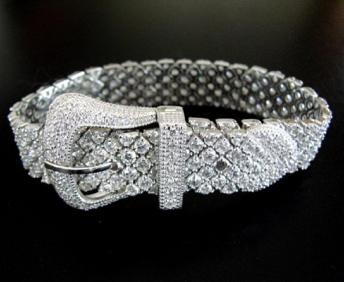 Bracelet Creation Diamond 47.91Ct 18k W/g Overlay