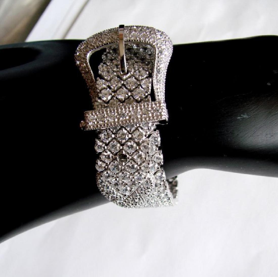 Bracelet Creation Diamond 47.91Ct 18k W/g Overlay - 3