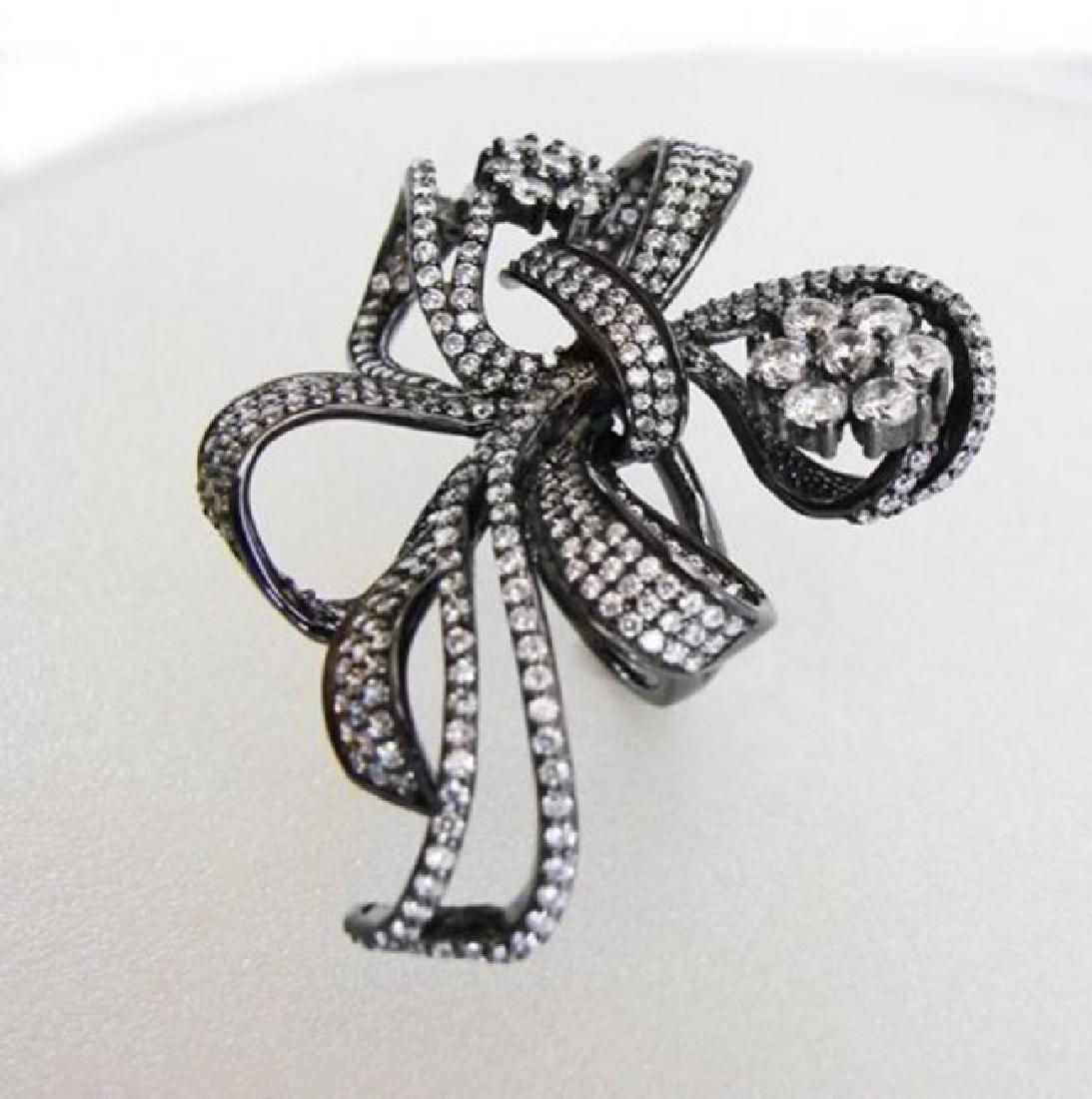 Creation Diamond Ring 7.15 CT 18K Antique Gold Overlay - 2