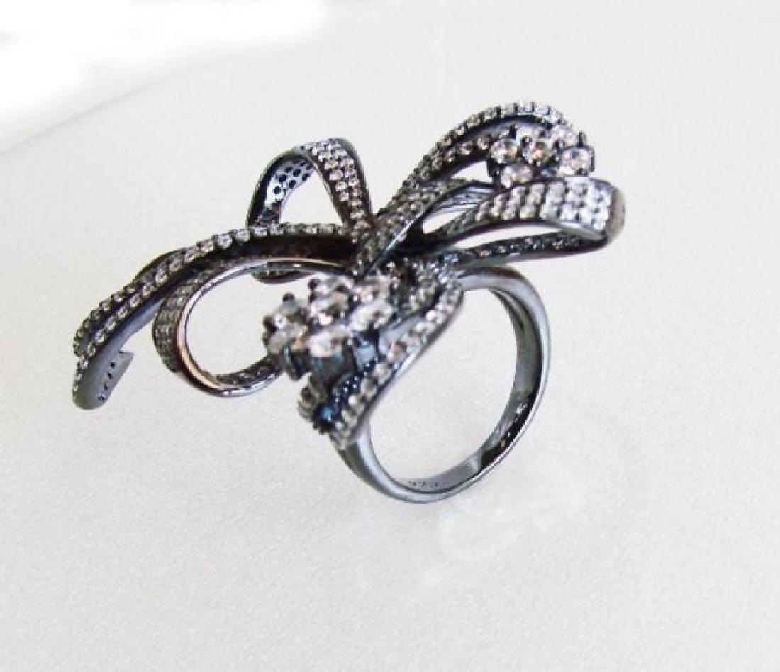 Creation Diamond Ring 7.15 CT 18K Antique Gold Overlay - 4