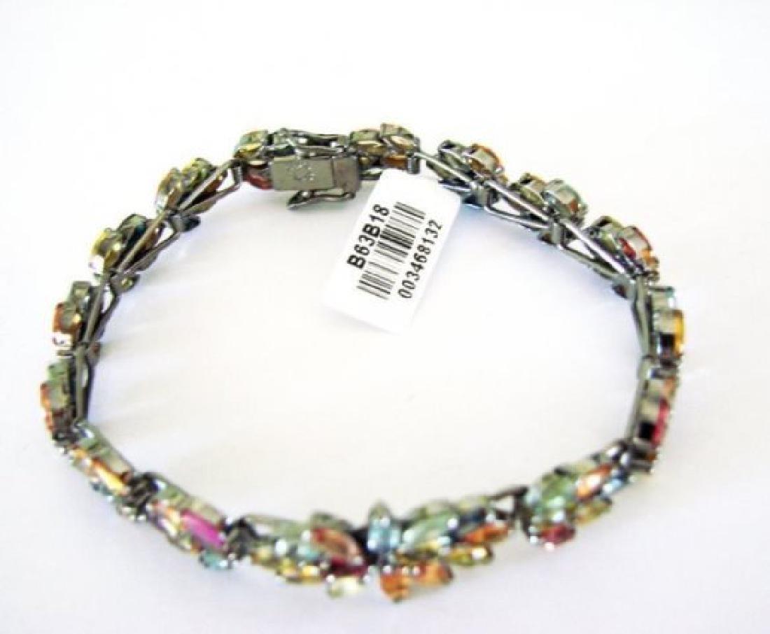 Multicolor Sapphire Bracelet 15.68Ct 18k B/g Overlay - 3