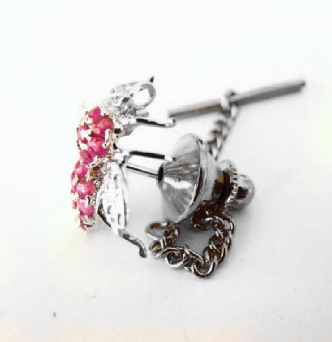 Bee Pins Ruby Diamond 1.25Ct 14K W/g - 3