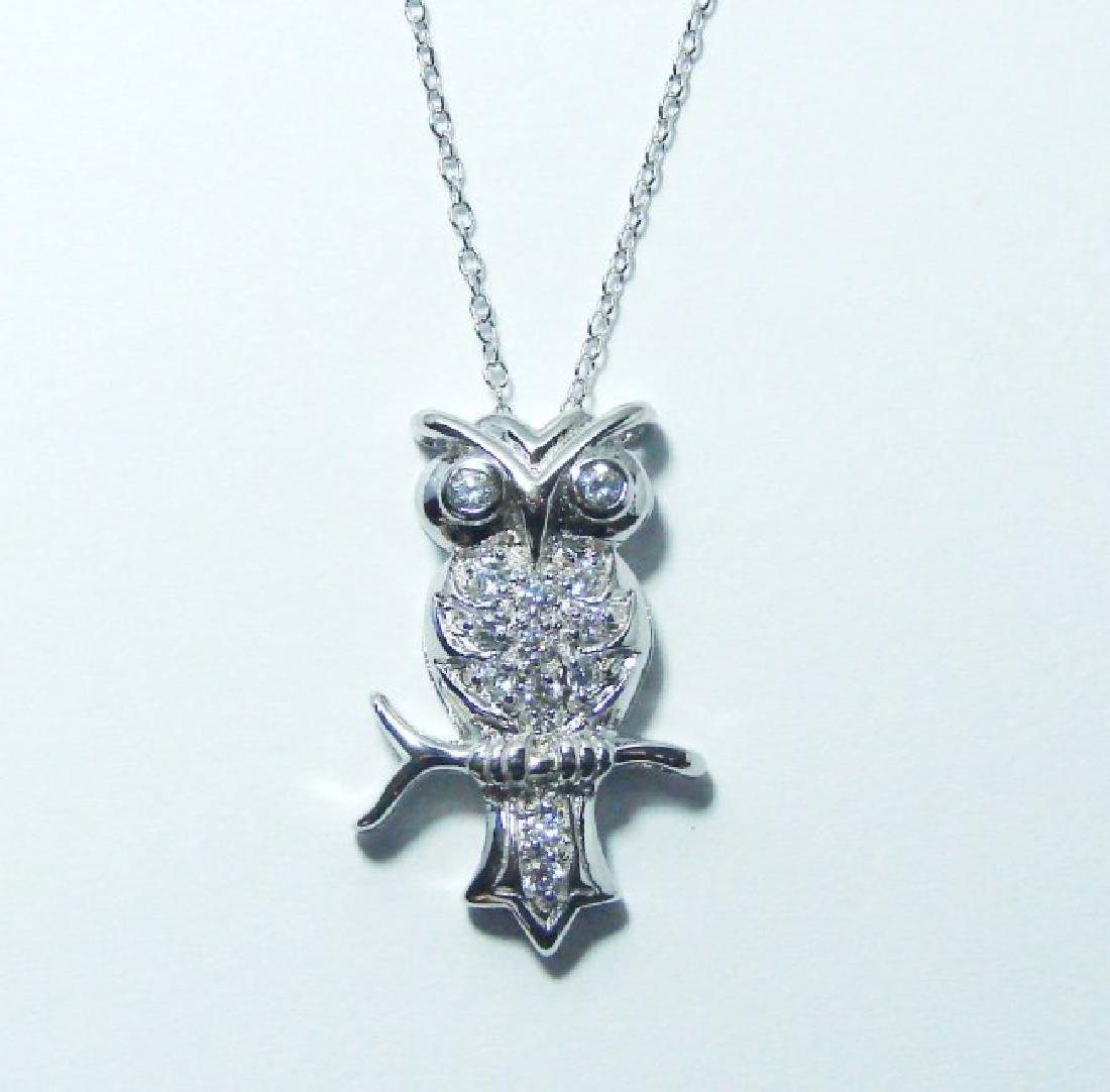 Creation Diamond/ Necklace .65CT 18k W/G Overlay