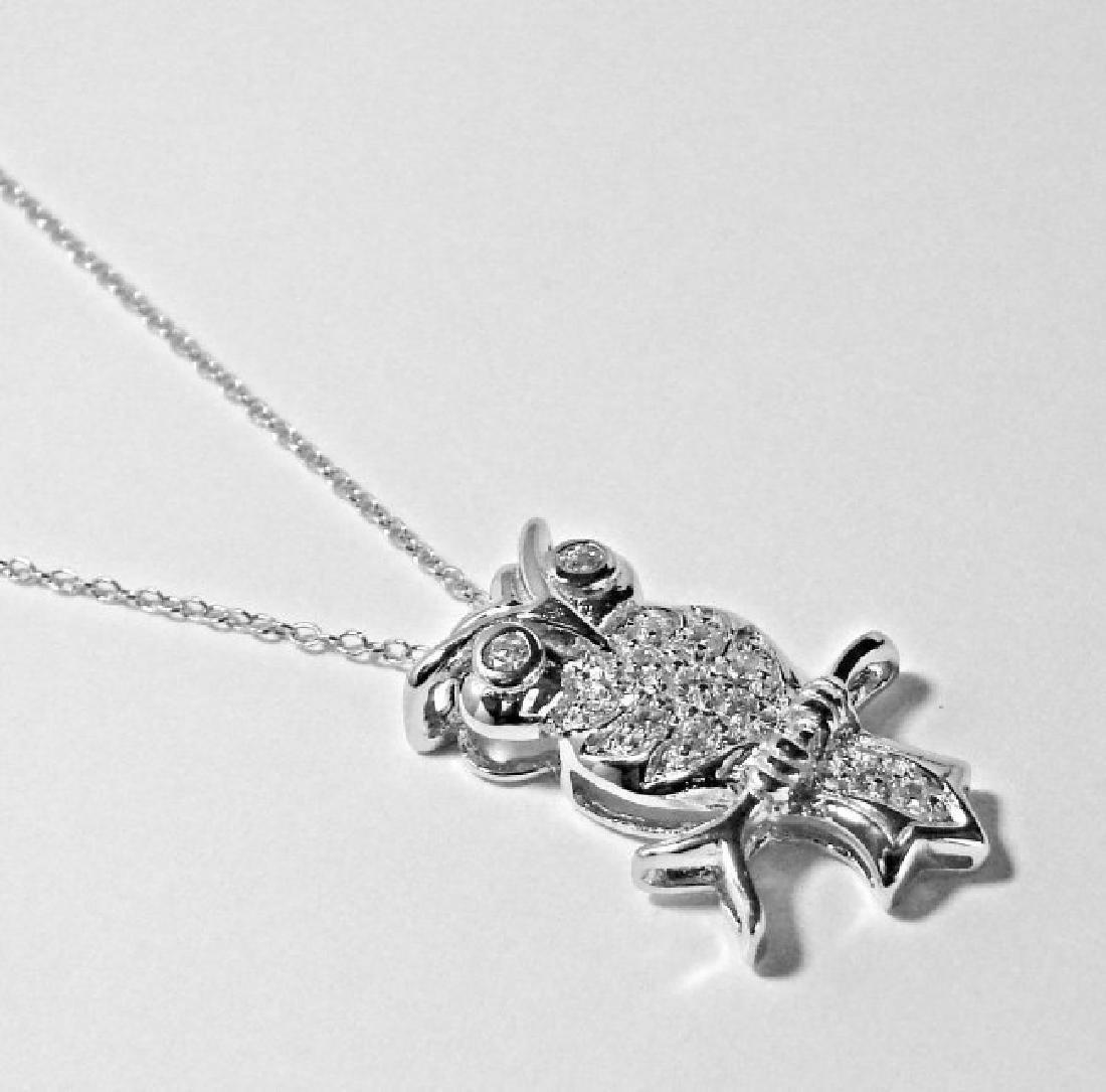 Creation Diamond/ Necklace .65CT 18k W/G Overlay - 2