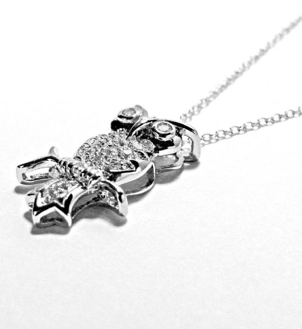 Creation Diamond/ Necklace .65CT 18k W/G Overlay - 3