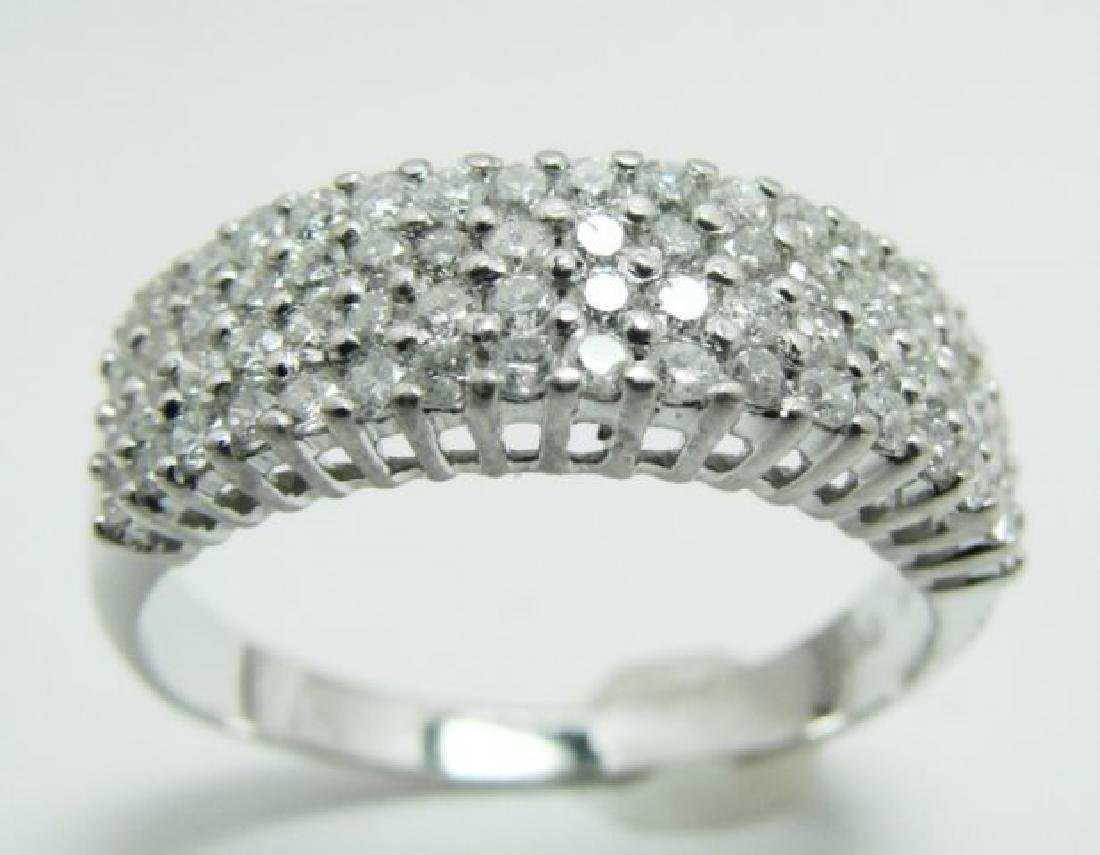 Anniversary Diamond Ring 1.36Ct 14k W/g