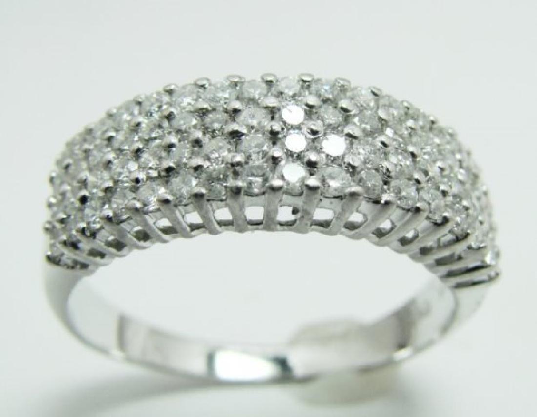 Anniversary Diamond Ring 1.36Ct 14k W/g