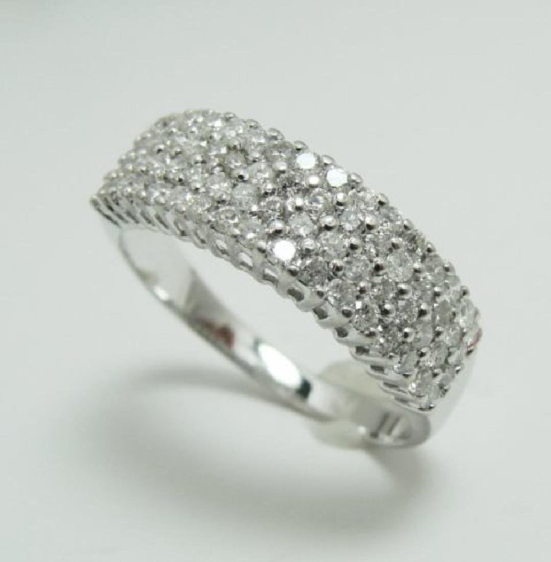Anniversary Diamond Ring 1.36Ct 14k W/g - 2