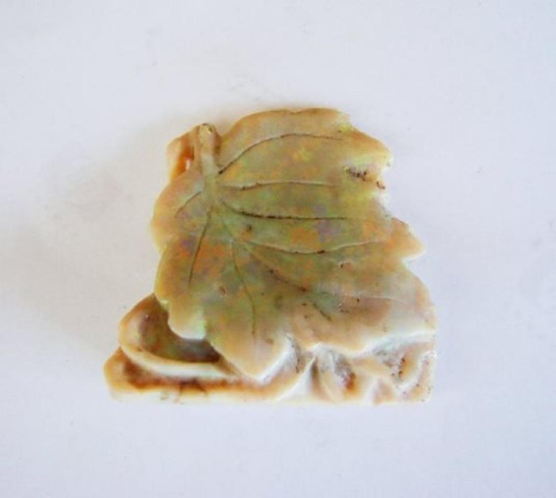 Loose Hand Carved Opal Leaf Design 84.94 Carat