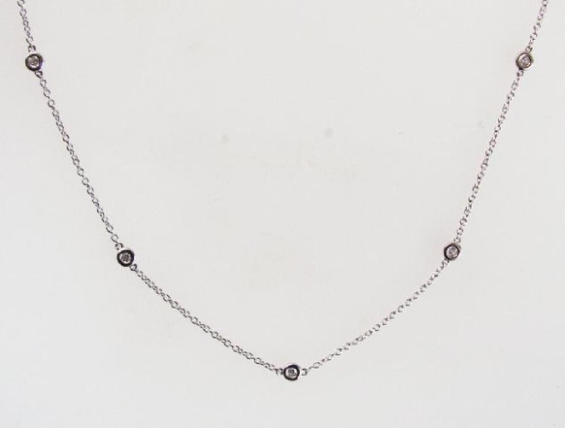 Ceation Diamond Tiffany Chain .90Ct 18k W/g Over