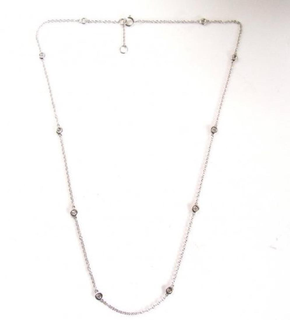 Ceation Diamond Tiffany Chain .90Ct 18k W/g Over - 2