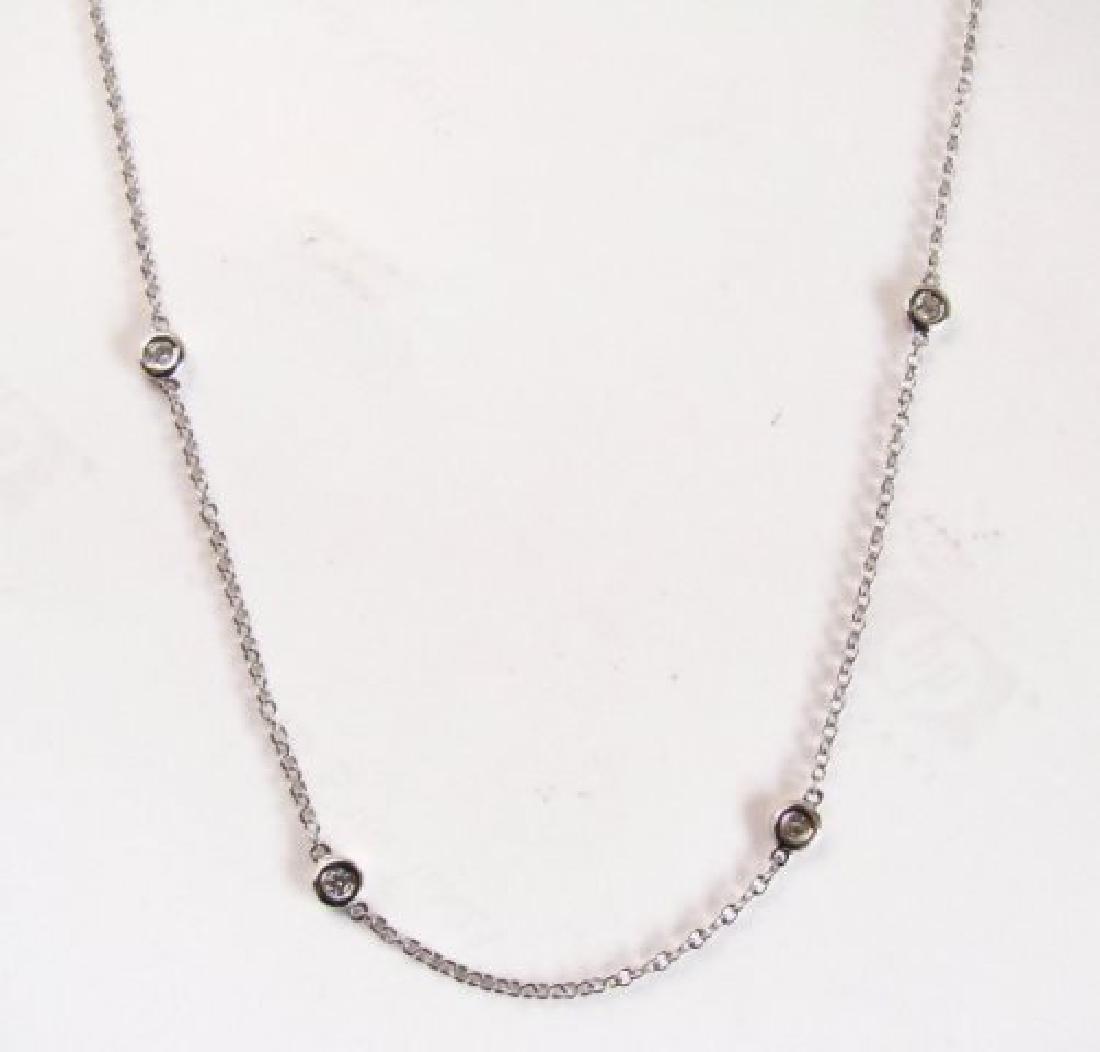 Ceation Diamond Tiffany Chain .90Ct 18k W/g Over - 3