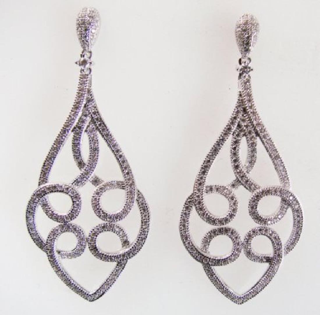 Ceation Diamond Chandeliers Ear 2.00Ct 18k W/g Ove
