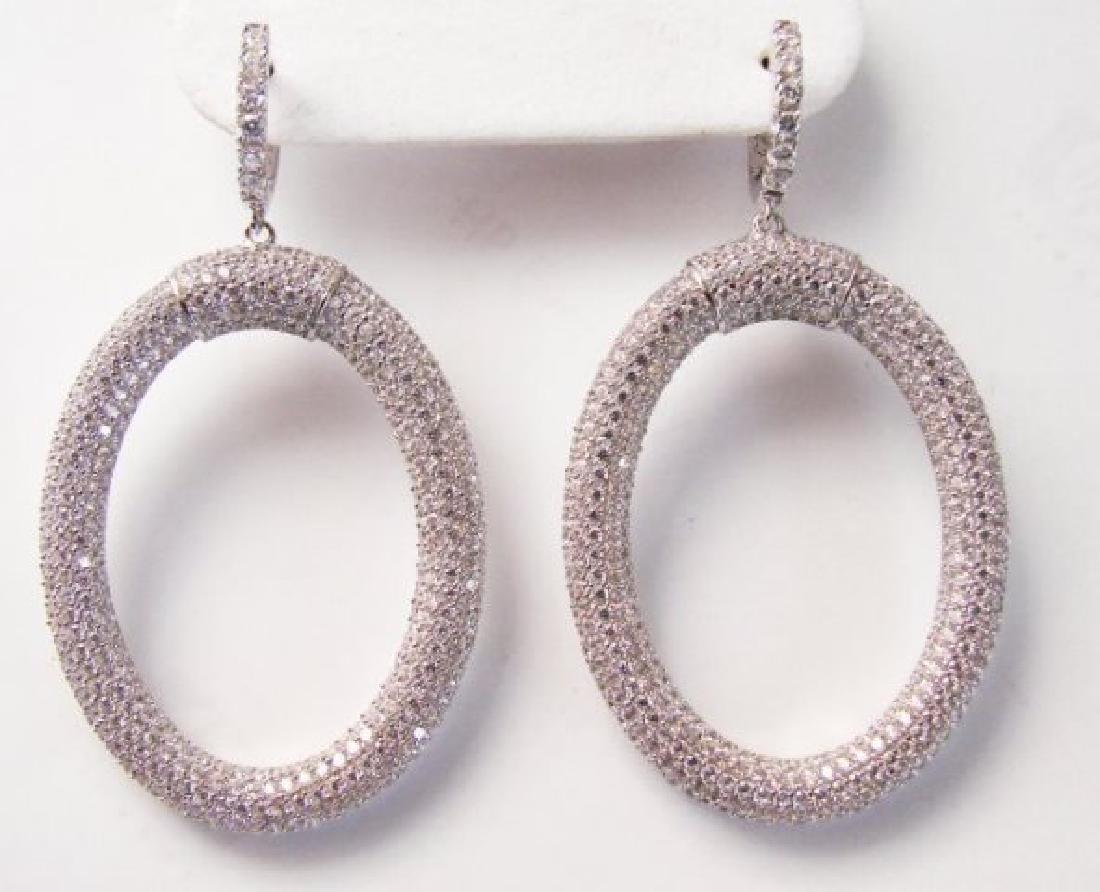 Creation Diamond Dangle Earring 9.3018k W/G Over