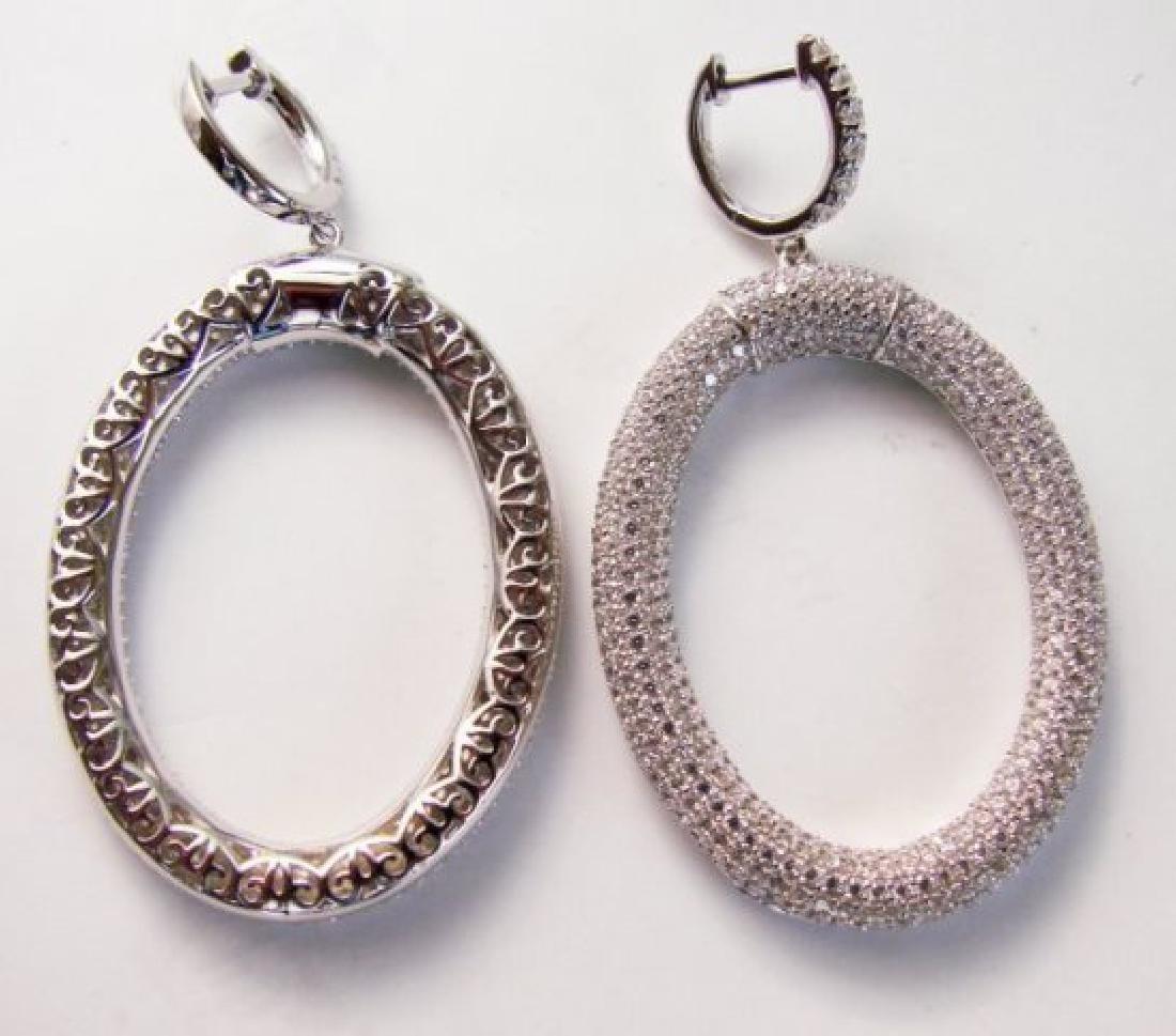 Creation Diamond Dangle Earring 9.3018k W/G Over - 2