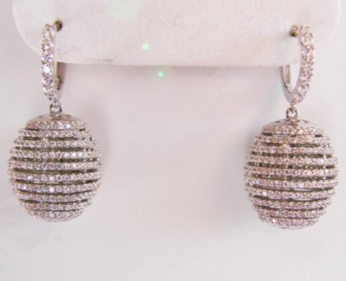 Creation Diamond Dangle Earring 2.45Ct18k W/g Over