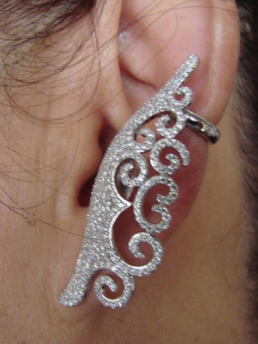 Creation Diamond Earring 5.76Ct 18k W/g Overlay