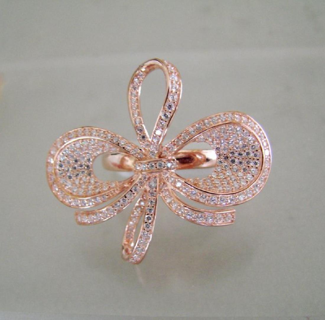 Creation Diamond Ring 3.46Ct 18k R/g Overlay