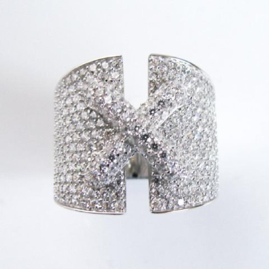 Creation Diamond  Ring 3.20Ct 18k W /g Overlay