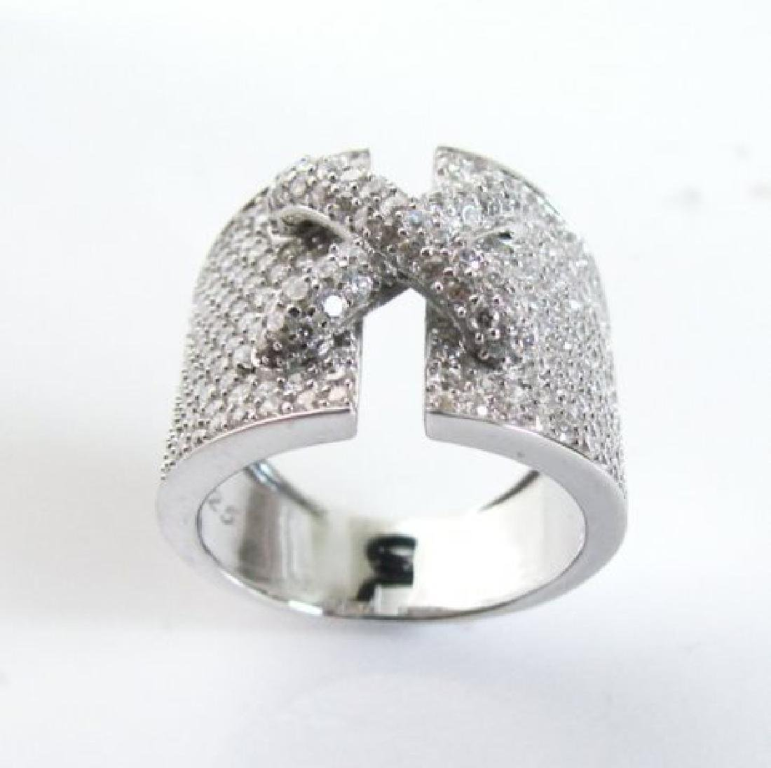 Creation Diamond  Ring 3.20Ct 18k W /g Overlay - 2