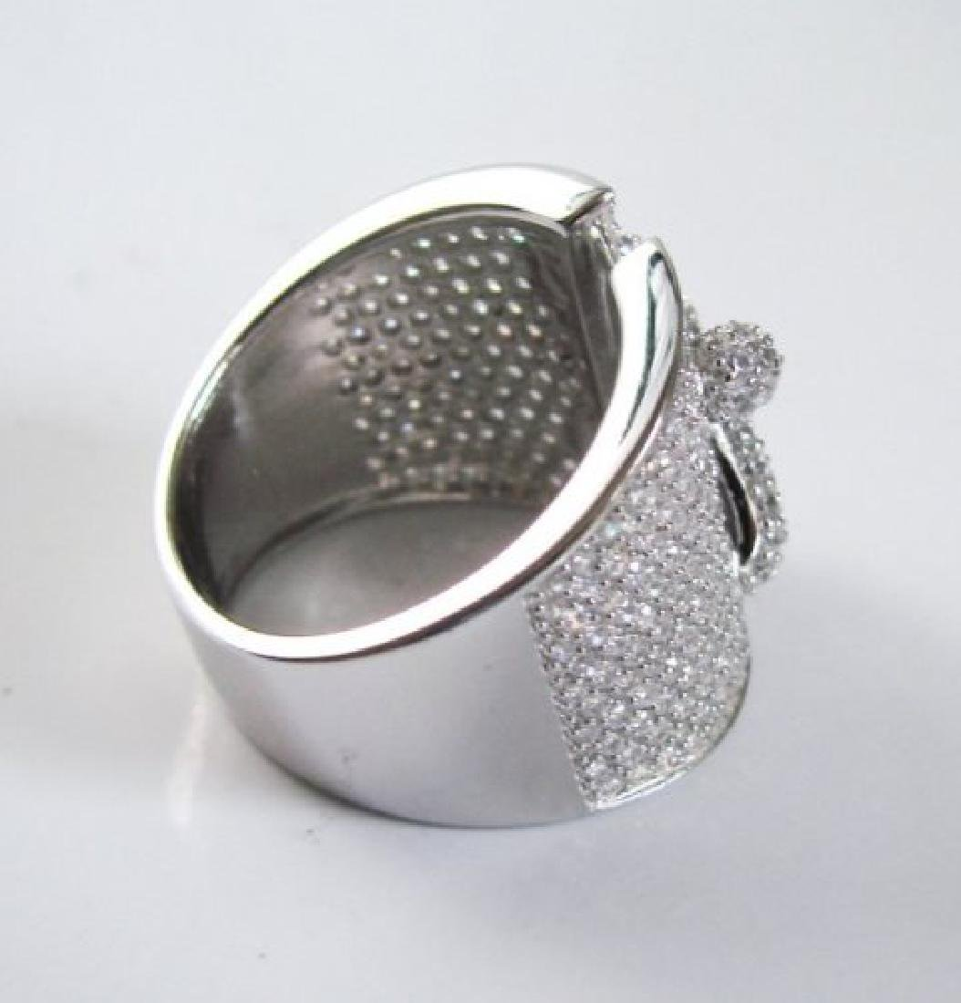 Creation Diamond  Ring 3.20Ct 18k W /g Overlay - 3