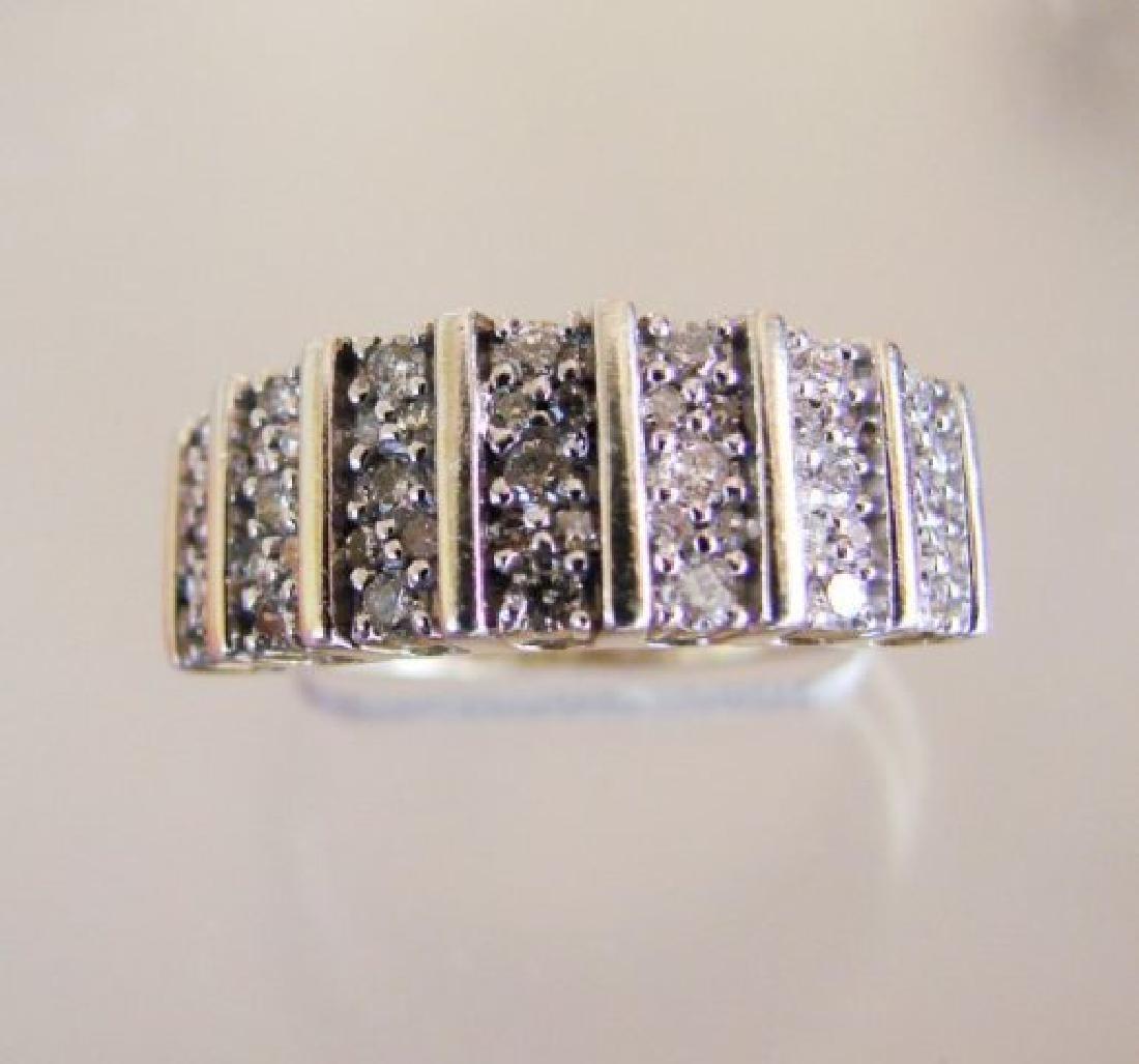 Vintage Diamond Ring .80CT 18k Y/g Overlay