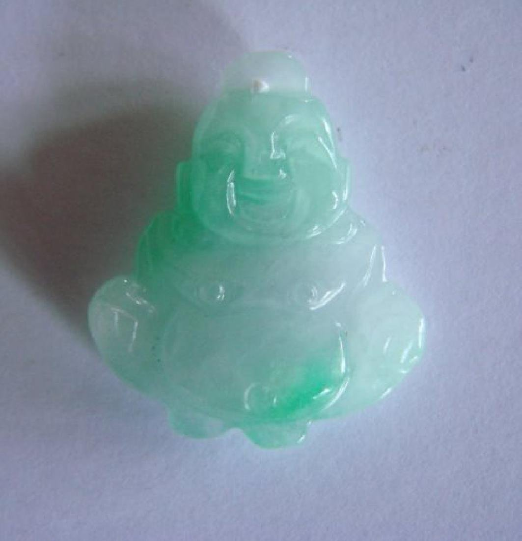 Natural Jade Buddha Figurine Pendants