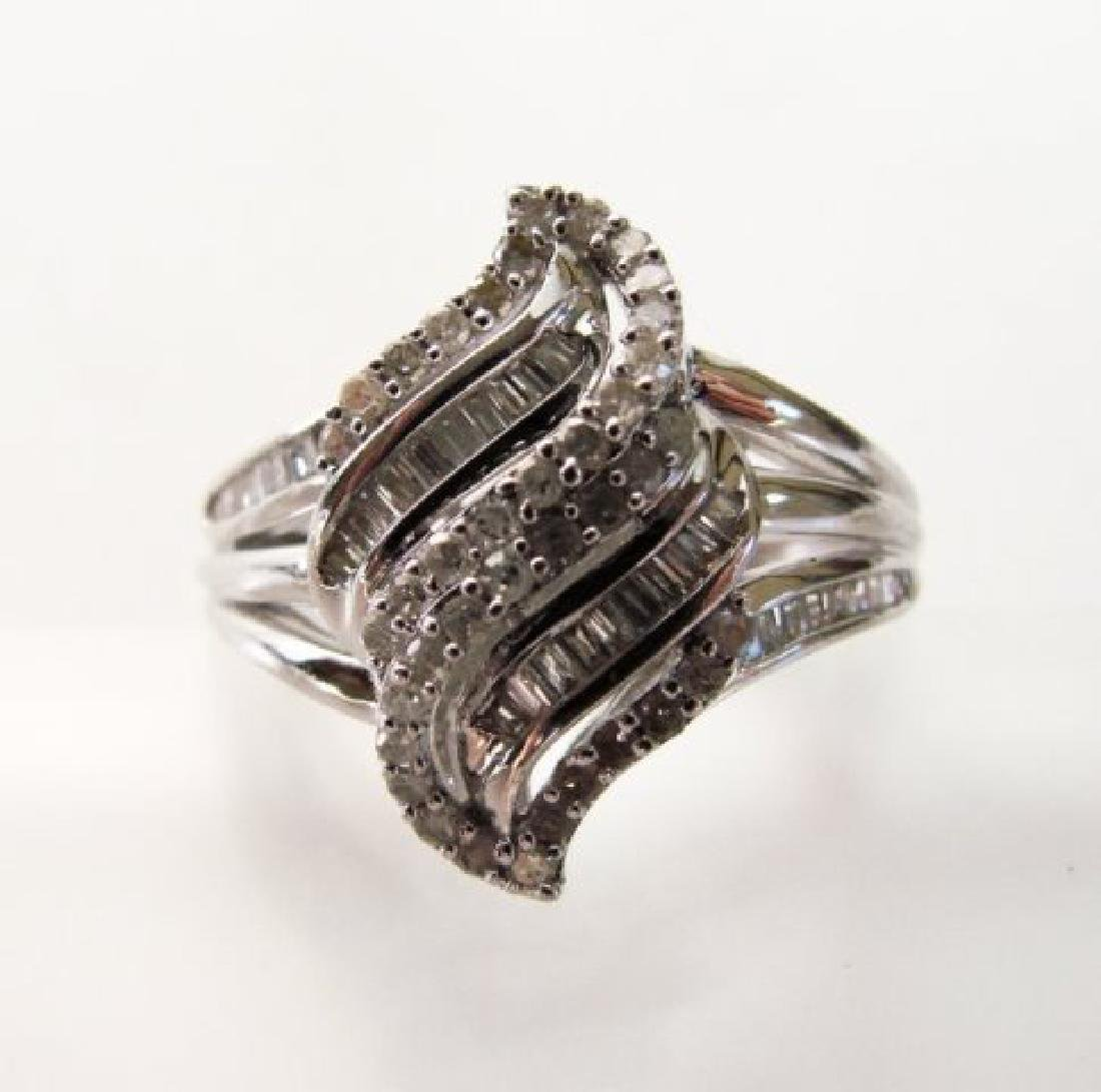 Vintage Diamond Ring 1.10CT 18k W/g Overlay