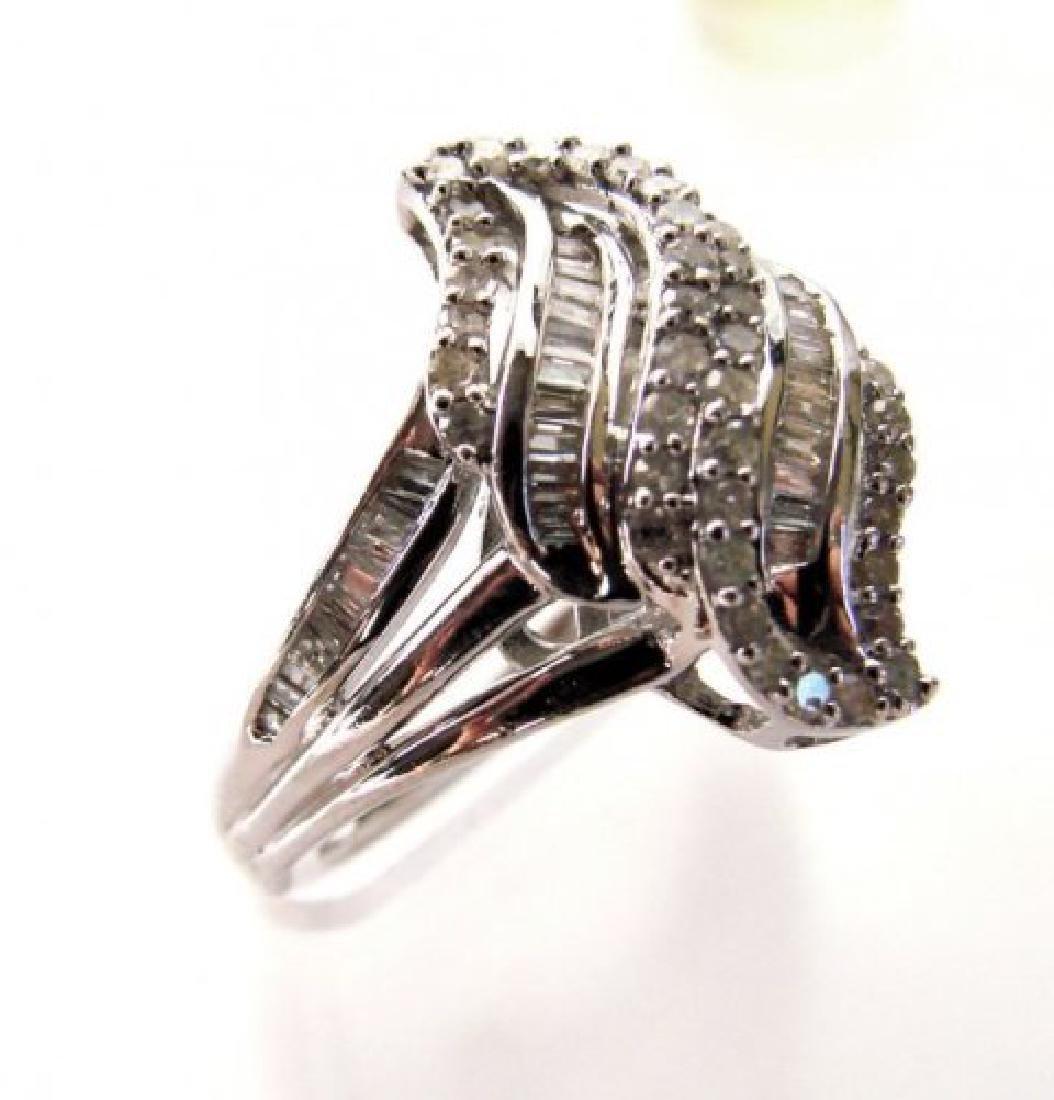 Vintage Diamond Ring 1.10CT 18k W/g Overlay - 2