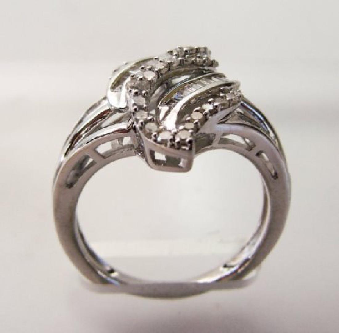 Vintage Diamond Ring 1.10CT 18k W/g Overlay - 3