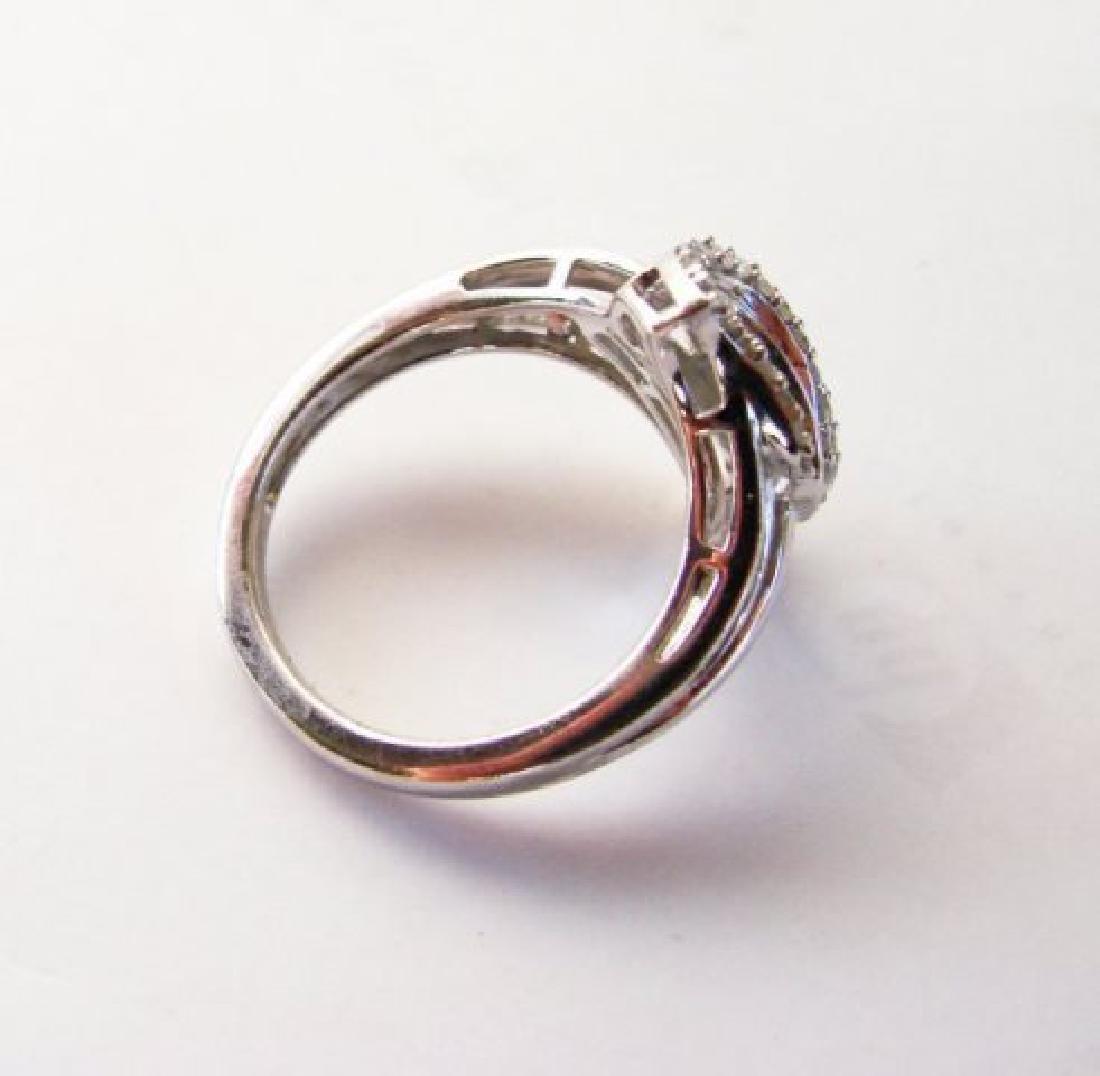 Vintage Diamond Ring 1.10CT 18k W/g Overlay - 4